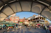 TAIPEI, TAIWAN - November 21th : The streetscape of old streets in Tamsui, Taiwan on November 21th, 2014.