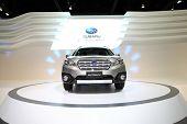 Bangkok - November 28: Subaru Outback Car  On Display At The Motor Expo 2014 On November 28, 2014 In