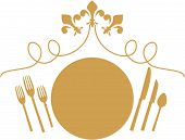 Fleur De Lys Formal Dinner Table Place Setting