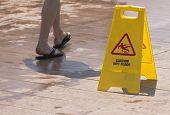 Wet floor sign pic.