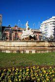 Fountain in Seville city centre.