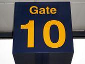 Gate 10 sign.
