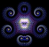 Brilliant fractal pattern resembling ice octopus. abstraction-based fractal graphics