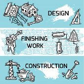 Construction banner set