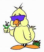 stock photo of baby duck  - Cartoon Duck Image,  Duck mascot, comic vector,    Funny Duckling & baby panda - JPG