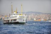 Passenger Boat On Bosphorus Strait