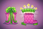 Pink gift box with bonus