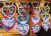 Traditional Gingerbread Hearts At The Festival Celebrating The Start Of Spring In Zinnowitz
