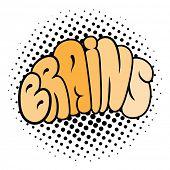 Cartoon brain typography