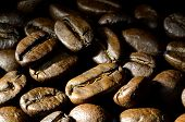 picture of spit-roast  - Close up of roasted coffee beans heap - JPG
