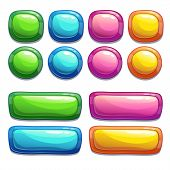 Set of bright buttons