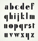 Geometric retro Alphabet