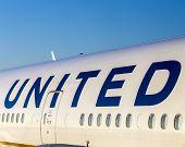 United Airlines Aircraft Logo At An Aircraft