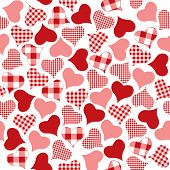 Checkered hearts pattern.