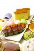 group shot of Japanese confectioneries