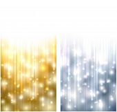 Winter abstract vertical banners. Christmas background with snowflakes and sparkles. Vector.
