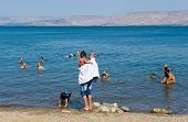 Swimming In The Sea Of Galilee