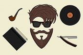 Set Of Hipster Style Icons