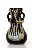 Israeli Ceramic Vase In Retro Style Isolated On White