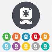 Hipster photo camera sign icon. Retro camera.