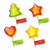 Four Bright Holiday Lollipop