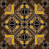 Ethnic Motif In Brown Tones