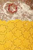 The process of making homemade Christmas cookies