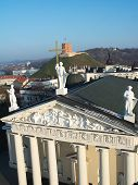 pic of cross hill  - Cathedral Gediminas Hill and three crosses from above in a single photo - JPG