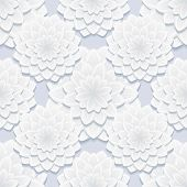 Beautiful Gray Seamless Pattern With Flowers