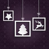 picture of x-files  - Christmas cover with white frames on the purple background - JPG