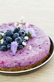 Vegan Raw Blueberry Cake