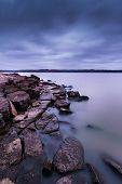 Evening On Tuttle Creek Lake In Kansas