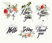 foto of i love you mom  - Set of pattern - JPG