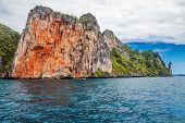 Exotic tropical island under blue sky. Thailand