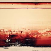 Weathered and distressed grunge background with different color patterns: red; orange; brown; gray