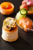 picture of canapes  - canape - JPG