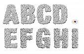 3D Cubes Alphabet A to I
