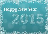 Happy New Year 2015 Snowflake Card
