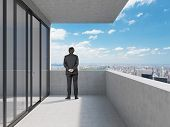 Businessman Standing Near Office