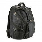 black backpack isolated on white background