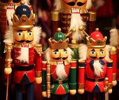 nutcracker statues standing in a row