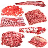 Set Of Different Meat Products