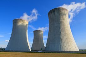 picture of reactor  - Nuclear power plant Dukovany in Czech Republic Europe - JPG