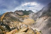 image of gunung  - Sibayak volcano near Berastagi in northern Sumatra - JPG