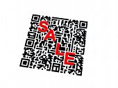 stock photo of qr codes  - Render of QR code with red SALE - JPG