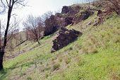 image of shale  - Block of shale slate stone like a man - JPG
