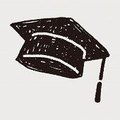 picture of graduation hat  - Graduation Hat Doodle - JPG