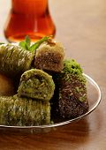 foto of baklava  - Turkish arabic dessert  - JPG