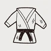 stock photo of karate kid  - Karate Doodle - JPG
