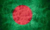 pic of bangladesh  - flag of Bangladesh or banner on rough pattern texture background - JPG